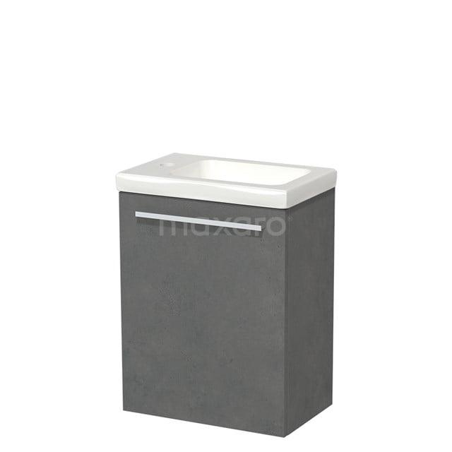 Toiletmeubel met Wastafel Keramiek Modulo Donkergrijs Beton 40 cm TMW10-00139