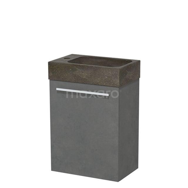Toiletmeubel met Wastafel Natuursteen Modulo Donkergrijs Beton 40 cm TMW10-00140