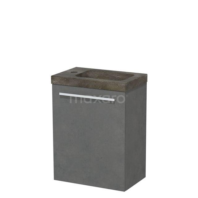 Toiletmeubel met Wastafel Natuursteen Modulo Donkergrijs Beton 40 cm TMW10-00141