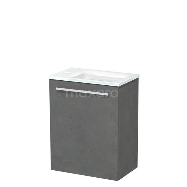 Toiletmeubel met Wastafel Glas Modulo Donkergrijs Beton 40 cm TMW10-00142
