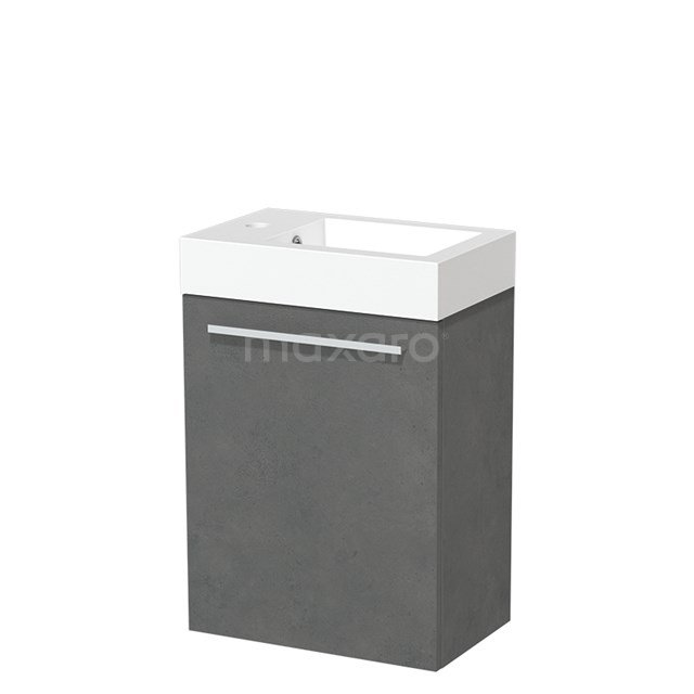 Toiletmeubel met Wastafel Mineraalmarmer Glanzend Modulo Donkergrijs Beton 40 cm TMW10-00143