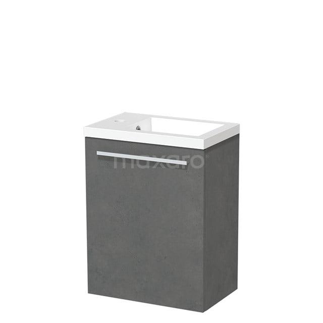 Toiletmeubel met Wastafel Mineraalmarmer Glanzend Modulo Donkergrijs Beton 40 cm TMW10-00144