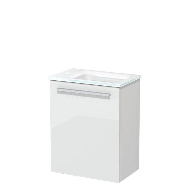Toiletmeubel met Wastafel Glas Modulo Hoogglans Wit 40 cm TMW10-00148