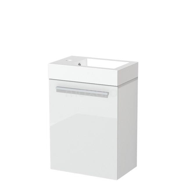 Toiletmeubel met Wastafel Mineraalmarmer Glanzend Modulo Hoogglans Wit 40 cm TMW10-00149