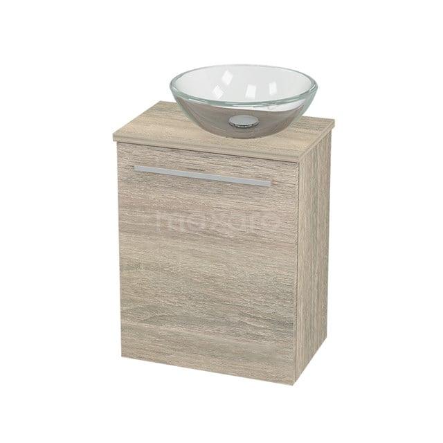 Toiletmeubel met Waskom Glas Modulo+ Pico Eiken 41cm BMC000827