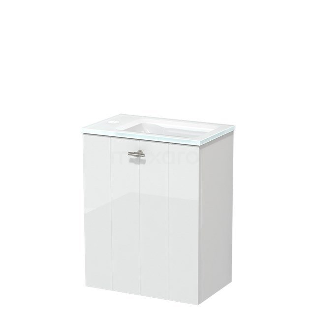 Toiletmeubel met Wastafel Glas Modulo Hoogglans Wit 40 cm TMW10-00154