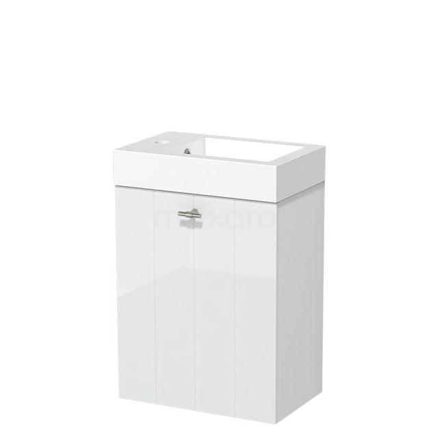 Toiletmeubel met Wastafel Mineraalmarmer Glanzend Modulo Hoogglans Wit 40 cm TMW10-00155