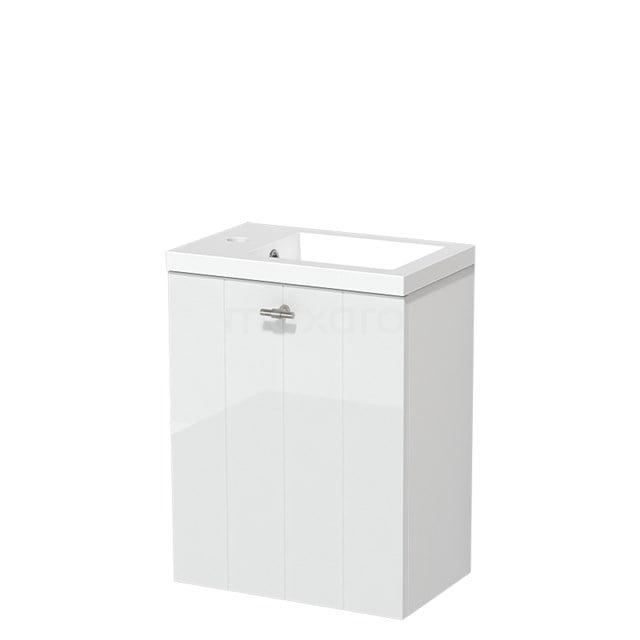Toiletmeubel met Wastafel Mineraalmarmer Glanzend Modulo Hoogglans Wit 40 cm TMW10-00156