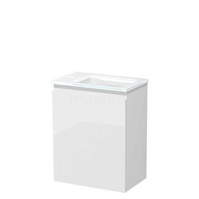 Toiletmeubel met Wastafel Glas Modulo Hoogglans Wit 40 cm TMW10-00160