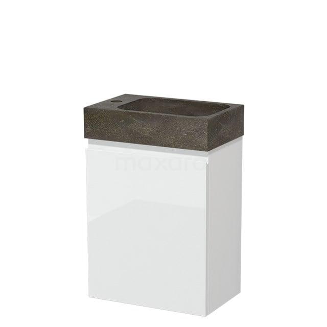 Toiletmeubel met Wastafel Natuursteen Modulo Hoogglans Wit 40 cm TMW10-00164