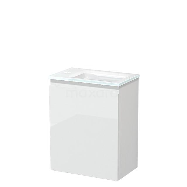 Toiletmeubel met Wastafel Glas Modulo Hoogglans Wit 40 cm TMW10-00166