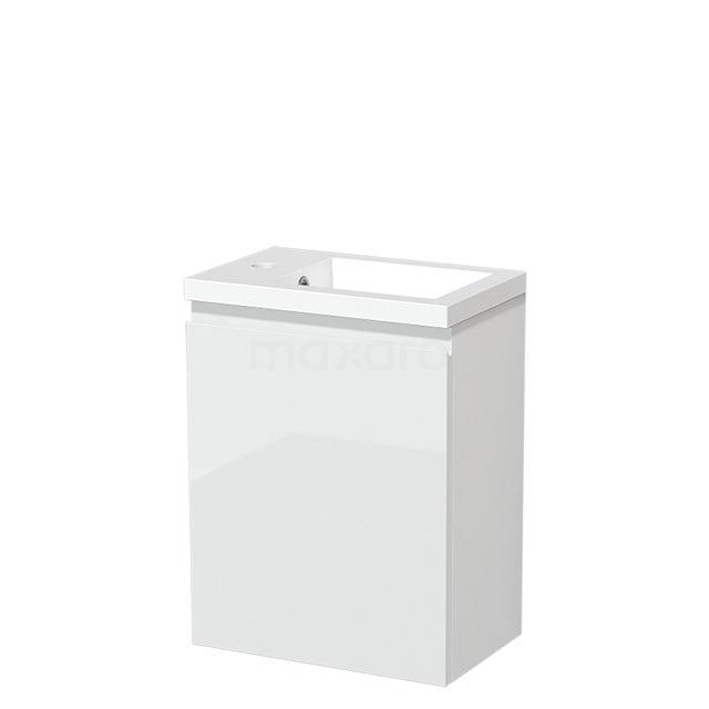 Toiletmeubel met Wastafel Mineraalmarmer Glanzend Modulo Hoogglans Wit 40 cm TMW10-00168