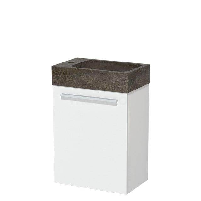 Toiletmeubel met Wastafel Natuursteen Modulo Mat Wit 40 cm TMW10-00170