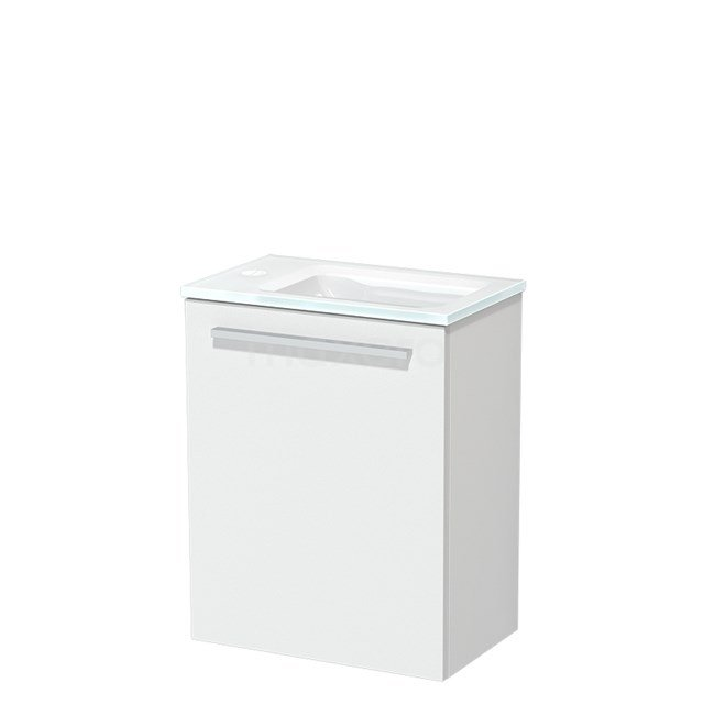 Toiletmeubel met Wastafel Glas Modulo Mat Wit 40 cm TMW10-00172