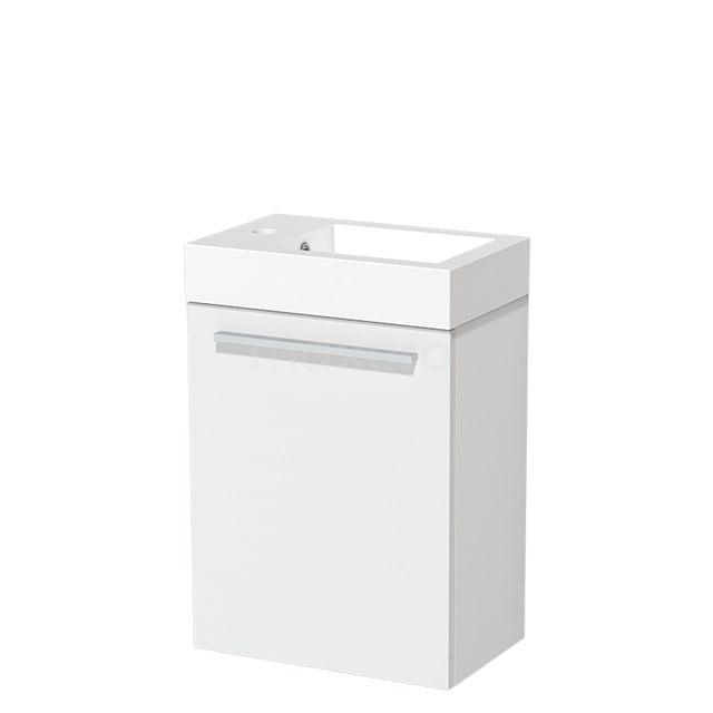 Toiletmeubel met Wastafel Mineraalmarmer Glanzend Modulo Mat Wit 40 cm TMW10-00173
