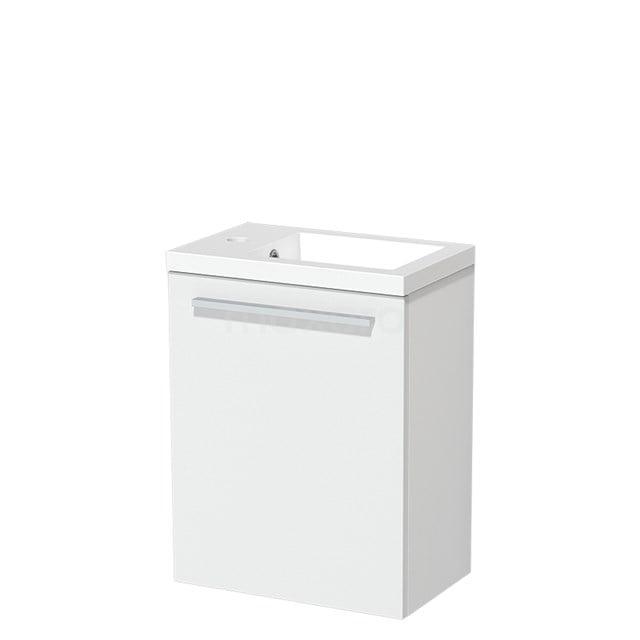 Toiletmeubel met Wastafel Mineraalmarmer Glanzend Modulo Mat Wit 40 cm TMW10-00174
