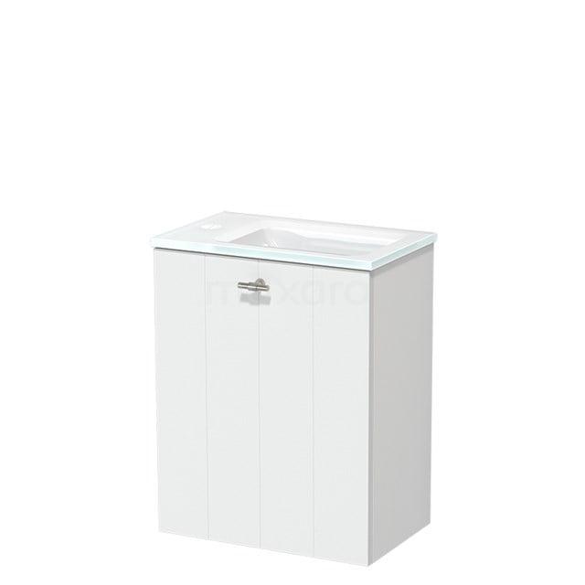 Toiletmeubel met Wastafel Glas Modulo Mat Wit 40 cm TMW10-00178