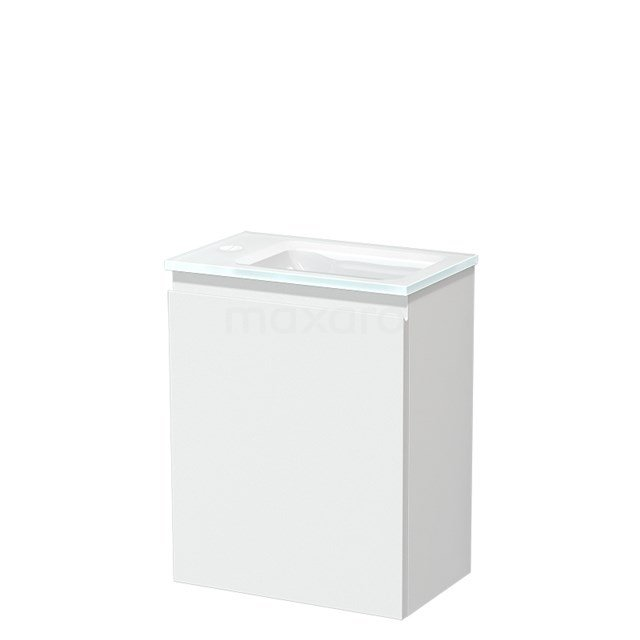 Toiletmeubel met Wastafel Glas Modulo Mat Wit 40 cm TMW10-00184