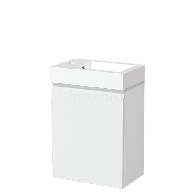 Toiletmeubel met Wastafel Mineraalmarmer Glanzend Modulo Mat Wit 40 cm TMW10-00185