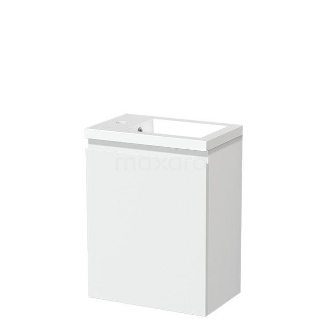 Toiletmeubel met Wastafel Mineraalmarmer Glanzend Modulo Mat Wit 40 cm TMW10-00186
