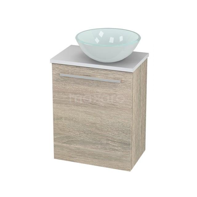 Toiletmeubel met Waskom Glas Modulo+ Pico Eiken 41cm BMC000835