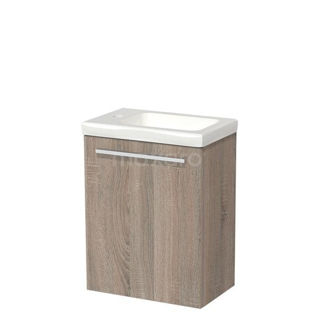 Toiletmeubel met Wastafel Keramiek Modulo Eiken 40 cm TMW10-00217