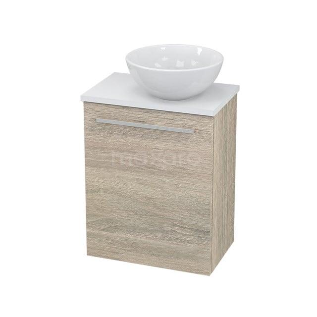 Toiletmeubel met Waskom Keramiek Modulo+ Pico Eiken 41cm BMC000836