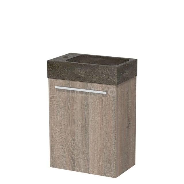 Toiletmeubel met Wastafel Natuursteen Modulo Eiken 40 cm TMW10-00218