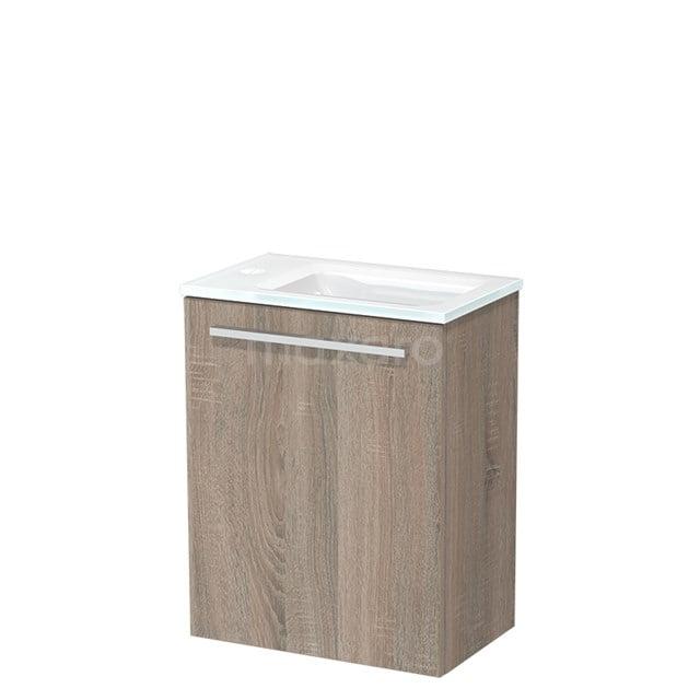 Toiletmeubel met Wastafel Glas Modulo Eiken 40 cm TMW10-00220