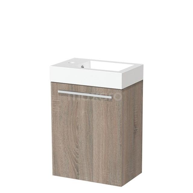 Toiletmeubel met Wastafel Mineraalmarmer Glanzend Modulo Eiken 40 cm TMW10-00221