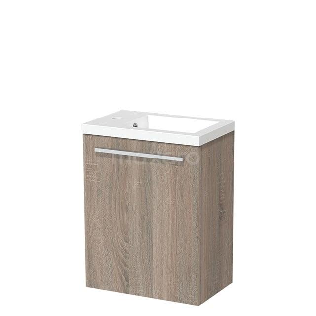 Toiletmeubel met Wastafel Mineraalmarmer Glanzend Modulo Eiken 40 cm TMW10-00222