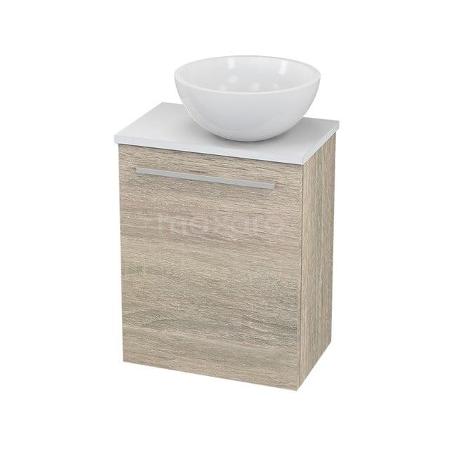Toiletmeubel met Waskom Mineraalmarmer Glanzend Modulo+ Pico Eiken 41cm BMC000837