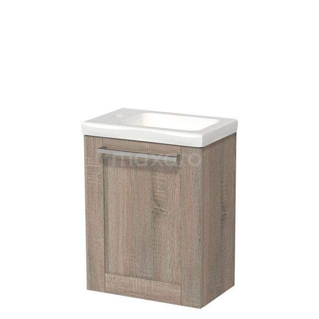 Toiletmeubel met Wastafel Keramiek Modulo Eiken 40 cm TMW10-00223