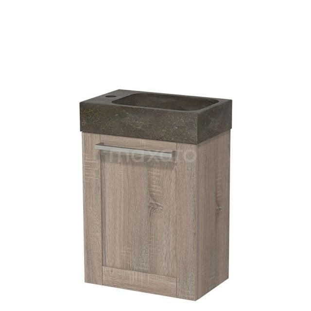 Toiletmeubel met Wastafel Natuursteen Modulo Eiken 40 cm TMW10-00224