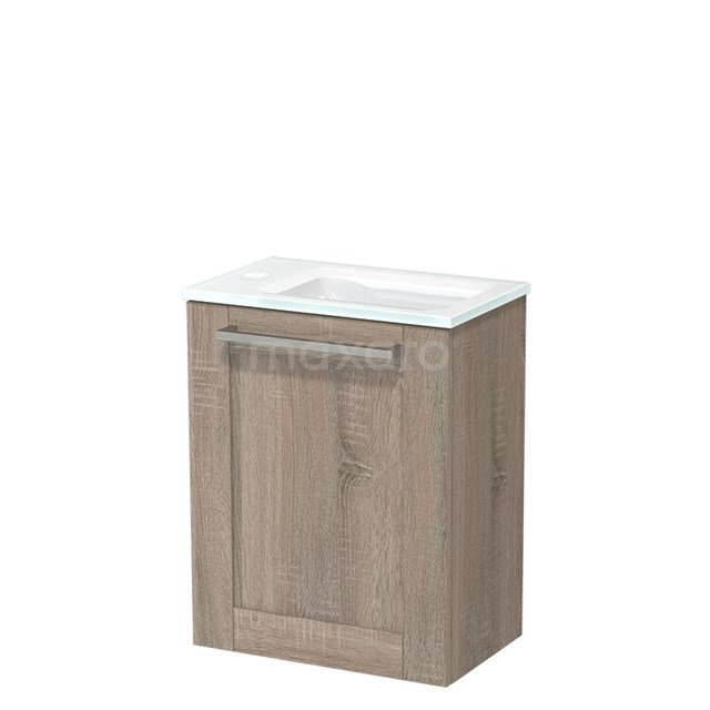 Toiletmeubel met Wastafel Glas Modulo Eiken 40 cm TMW10-00226