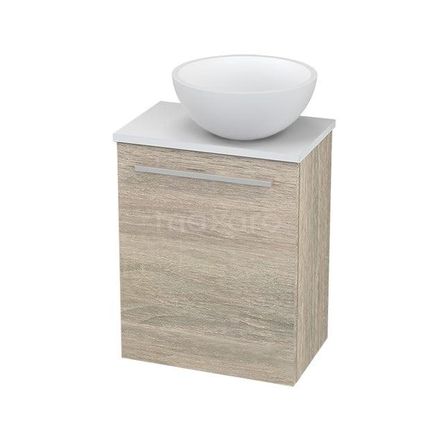 Toiletmeubel met Waskom Solid Surface Mat Modulo+ Pico Eiken 41cm BMC000838