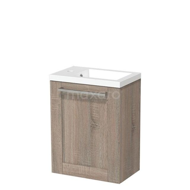 Toiletmeubel met Wastafel Mineraalmarmer Glanzend Modulo Eiken 40 cm TMW10-00228