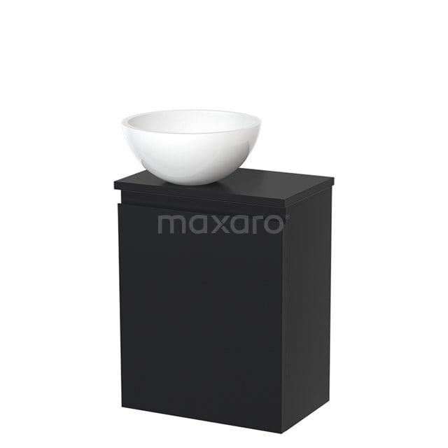 Toiletmeubel met Waskom Mineraalmarmer Glanzend Modulo Mat Zwart 41 cm TMK10-00019