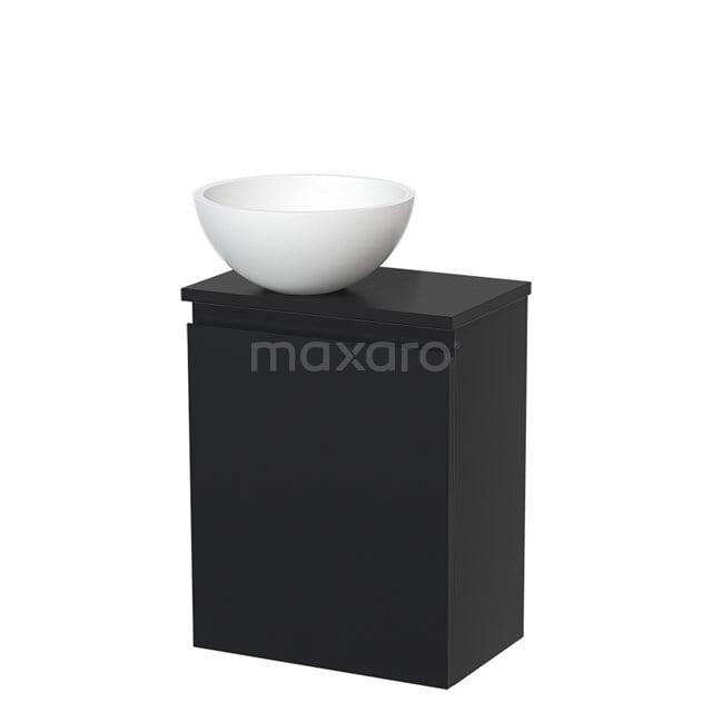 Toiletmeubel met Waskom Solid Surface Mat Modulo Mat Zwart 41 cm TMK10-00027