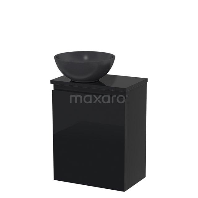Toiletmeubel met Waskom Quartz Modulo Hoogglans Zwart 41 cm TMK10-00077