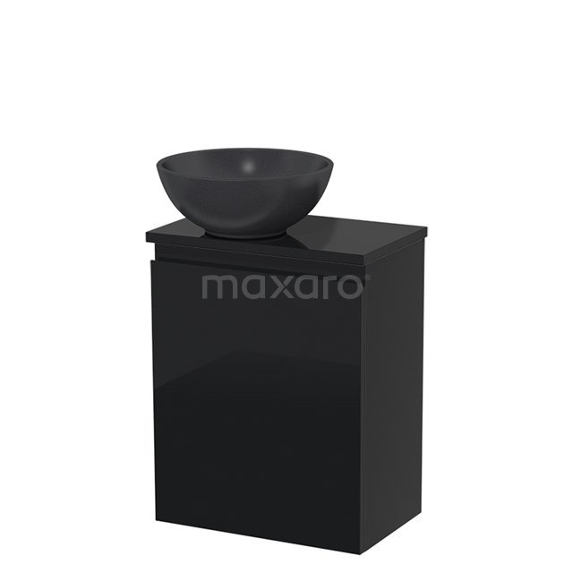 Toiletmeubel met Waskom Quartz Modulo Hoogglans Zwart 41 cm TMK10-00084