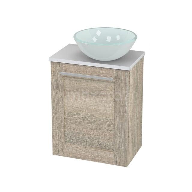 Toiletmeubel met Waskom Glas Modulo+ Pico Eiken 41cm BMC000856