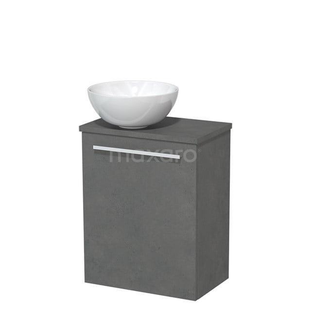 Toiletmeubel met Waskom Keramiek Modulo Donkergrijs Beton 41 cm TMK10-00162