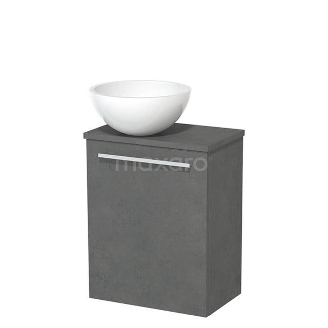 Toiletmeubel met Waskom Mineraalmarmer Glanzend Modulo Donkergrijs Beton 41 cm TMK10-00166