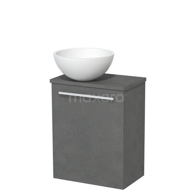 Toiletmeubel met Waskom Solid Surface Mat Modulo Donkergrijs Beton 41 cm TMK10-00167