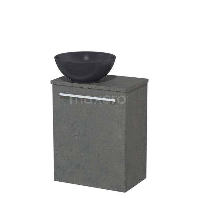 Toiletmeubel met Waskom Quartz Modulo Donkergrijs Beton 41 cm TMK10-00168