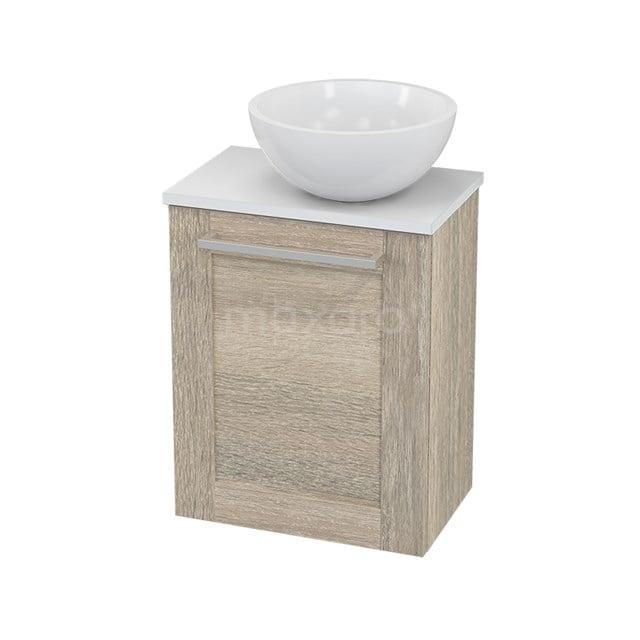 Toiletmeubel met Waskom Mineraalmarmer Glanzend Modulo+ Pico Eiken 41cm BMC000858