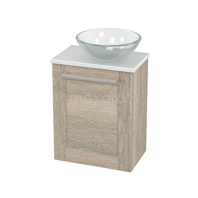 Toiletmeubel met Waskom Glas Modulo+ Pico Eiken 41cm BMC000862