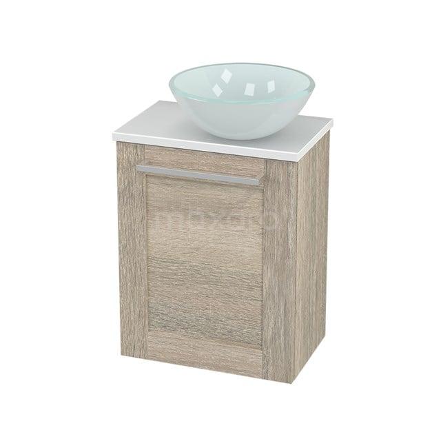 Toiletmeubel met Waskom Glas Modulo+ Pico Eiken 41cm BMC000863
