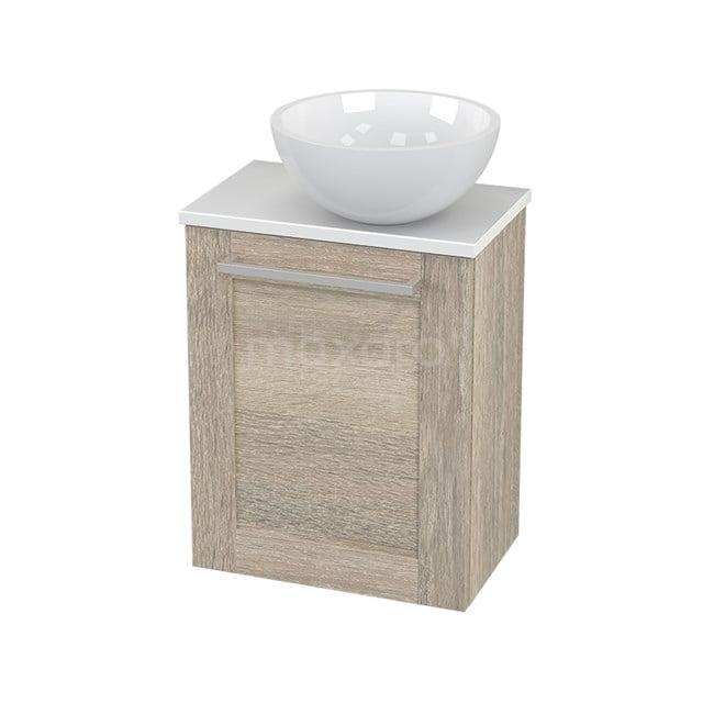 Toiletmeubel met Waskom Mineraalmarmer Glanzend Modulo+ Pico Eiken 41cm BMC000865